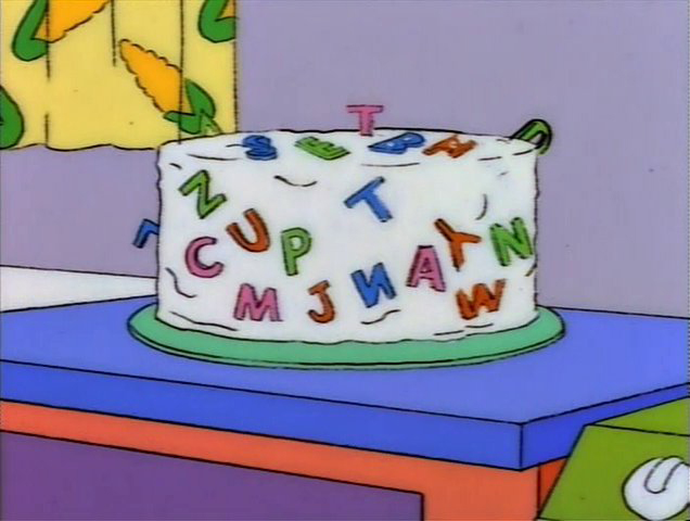 Wondrous Special Cake For Homer To Ruin The Joy Of Cooking Milhouse Funny Birthday Cards Online Sheoxdamsfinfo